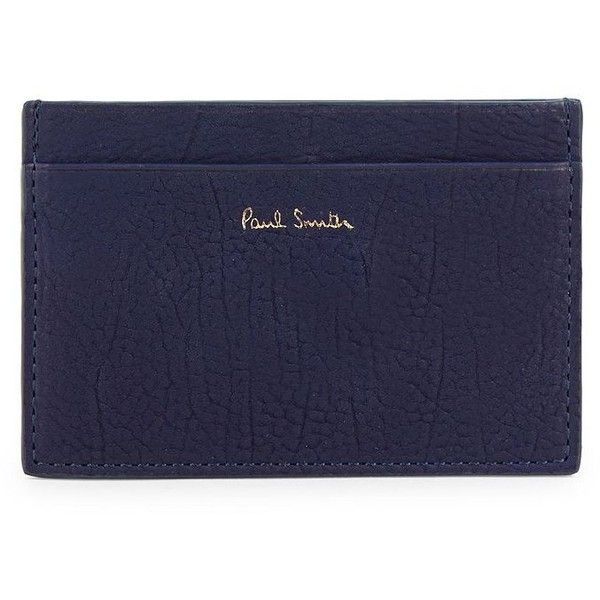 Paul Smith Classic Leather Card Slot (186,525 KRW) ❤ liked on Polyvore featuring men's fashion, men's bags, men's wallets, mens leather wallets, mens credit card holder wallet, mens wallet, paul smith mens wallet and mens leather credit card holder wallet