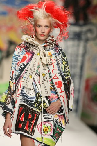 "Very interesting ""handpainted"" look to the fabric and in ""patchwork"" style"