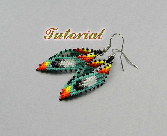 PDF Beaded Earrings Tutorial Russian Leaf Native American