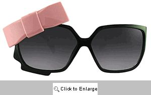 Dita Bow Sunglasses - 366 Black/Pink