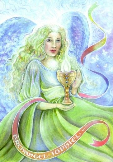 Archangel Jophiel from the Aura-Some New Aeon Tarot by Pamela Matthews