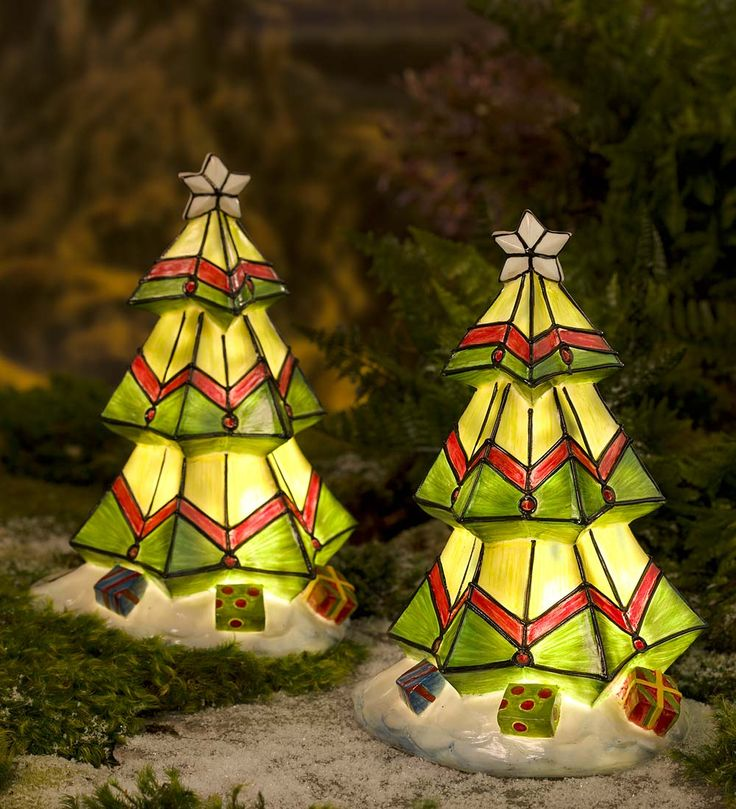 212 best christmas solar and glow images on pinterest christmas colorful solar christmas tree in lighted garden accents aloadofball Gallery