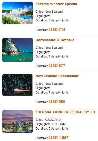 Ingin berlibur ke New Zealand tanpa repot? Coba lihat paket liburan yang kami temukan di website Panorama Tours; liburan di New Zealand selama 5 hari 4 malam dimulai dari USD714/orang.  Info detilnya bisa dilihat di timeline twitter kami @LuxuryNZ_ID dan di facebook: Luxury NZ Indonesia #LuxuryNZid