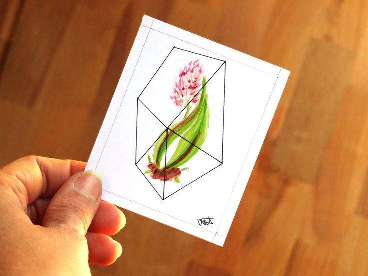ACEO+Mini+quadro+con+tulipano+di+Valeria+Draws+su+DaWanda.com