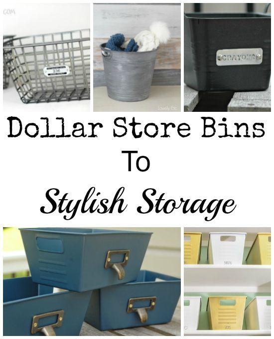 Dollar Store Bins to Stylish Storage: Just Add Paint - Lemons, Lavender, &…