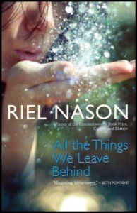 """All the Things We Leave Behind """"It's 1977. Seventeen-year-old Violet is left behind by her parents to manage their busy roadside antique stand for the summer. Her restless older brother, Bliss, has disappeared, leaving home without warning, and her parents are off searching for clues."""