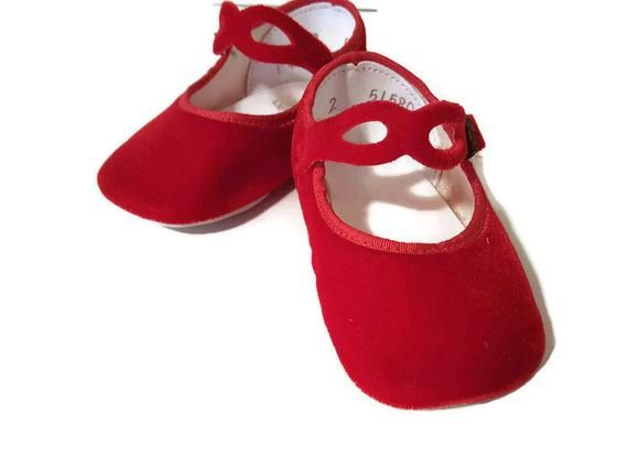 """RED Velvet Mary Janes w// Bow DOLL SHOES fits 18/"""" AMERICAN GIRL Doll Clothes"""