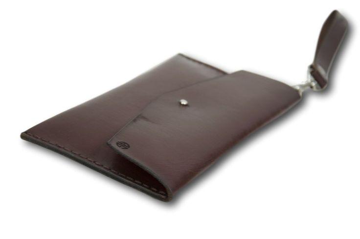 Dark Brown Leather Clutch, Leather Envelope Purse,Leather Bag, Handmade Envelope Clutch