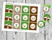 football circles.  like the brown football patternFootball Circles, Crafts Ideas, Birthday Parties, Cupcakes Toppers, Football Parties, Parties Ideas, Gift Tags, Cupcakes Rosa-Choqu, Circles Cupcakes