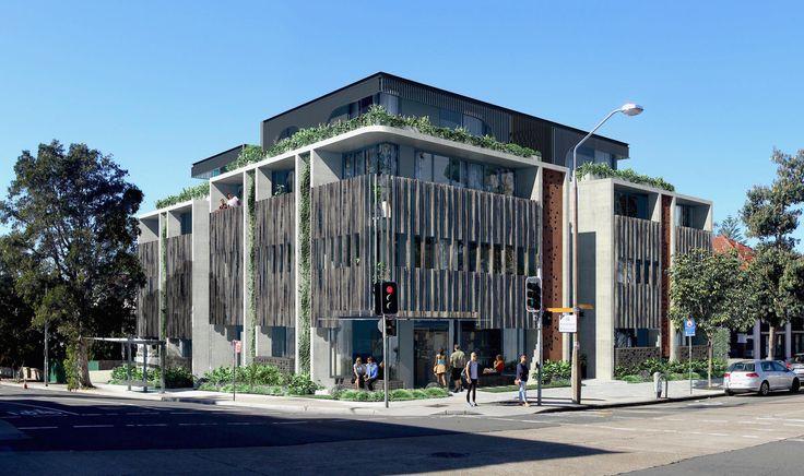 Sustainable contemporary studio apartment building in Bondi Beach