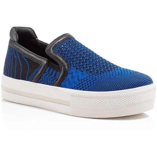 Ash Jeday Patterned Knit Platform Sneakers (8,525 PHP) ❤ liked on Polyvore featuring shoes, sneakers, ash sneakers, platform sneakers, ash footwear, platform trainers and ash shoes