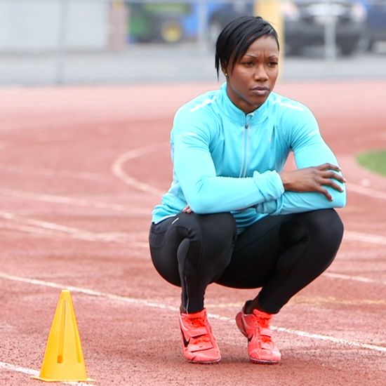 Carmelita Jeter, Olympic sprinter. #fitness #running #fastestwomanalive