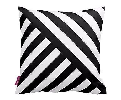 Coussin ROSE, blanc et noir - 43*43