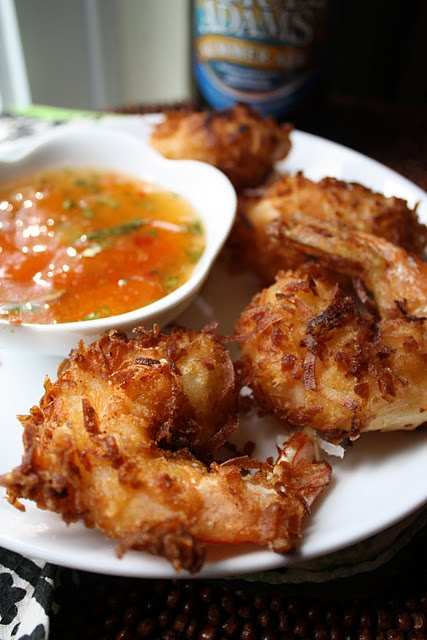 Beer Battered Coconut Shrim & a Citrus Chili Sauce. Sounds like a future dinner to me :)