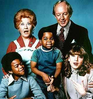 Different Strokes.....Mrs. Garrett, Phillip Drummond, Kimberly (daughter), Willis & Arnold Jackson