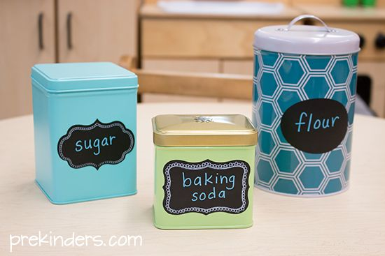 Canisters in the Bakery Dramatic Play Center