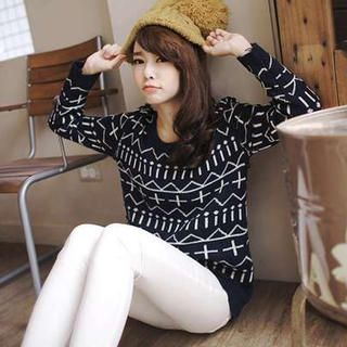 Cross-Print Sweater from #YesStyle <3 Tokyo Fashion YesStyle.com