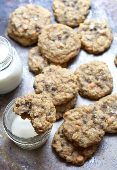Salted oatmeal chocolate chip with butterscotch Cookie | Delicious Lactation Cookies Recipes That Actually Work | Lactation Cookies Recipe | Increase Breastmilk Supply Fast | https://theabsoluteparent.com/lactation-cookies-recipes/