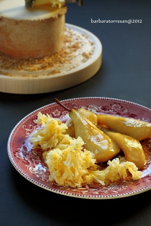 Pere (caramellate) e formaggio... Svizzero