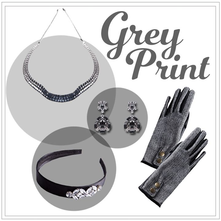 Grey Print