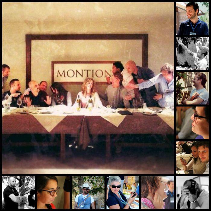 Collage di partecipanti @InMontefalco Social Media Tour Social Media Tour foto di @farahmesiti