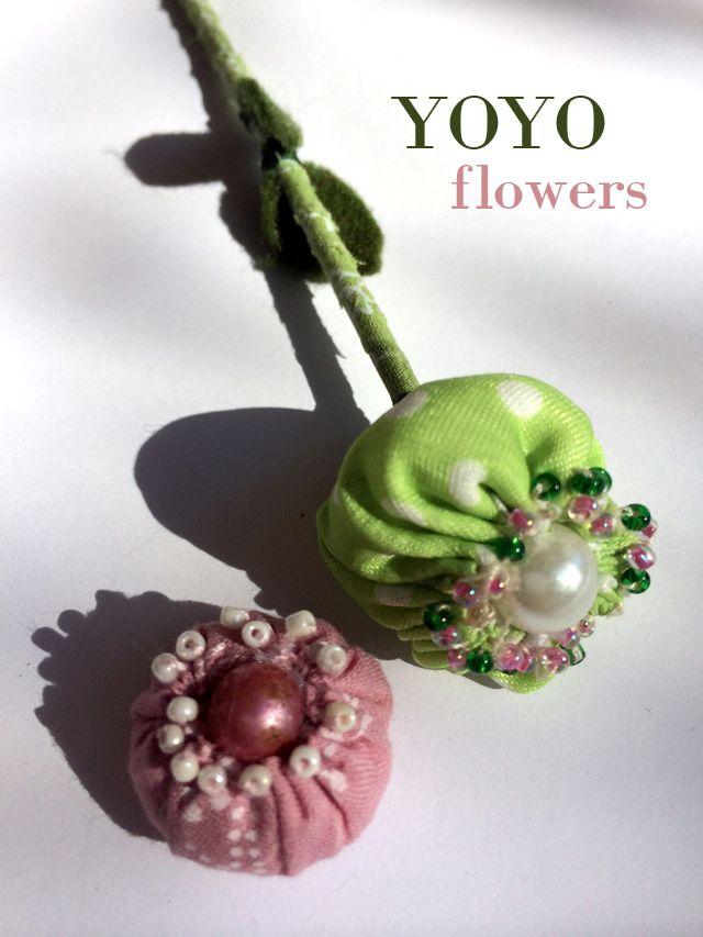 yoyo flowers tutorial. Discover many ways to sew Yoyo flowers !