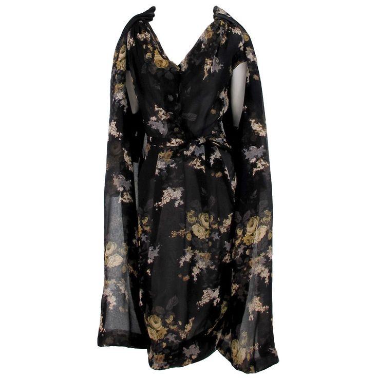 1stdibs.com | Marucelli floral chiffon dress & coat 1950s Italy