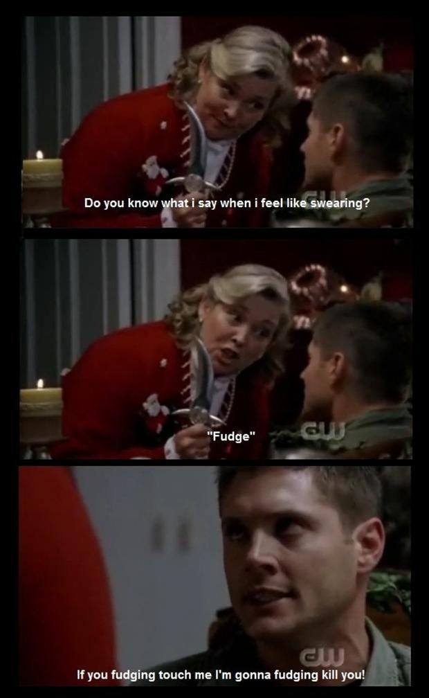 Supernatural Funny Quotes | supernatural, funny pictures I hated those people! they were way to happy.