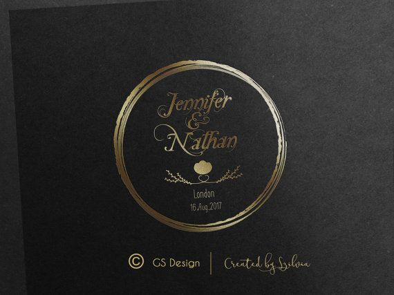 Looking for a wedding logo? Romantic, elegant logo for you. You choose its color.