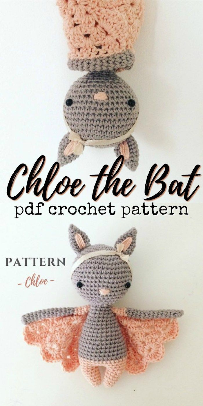 What an adorable little crocheted bat amigurumi pattern! I love how sweet this l…