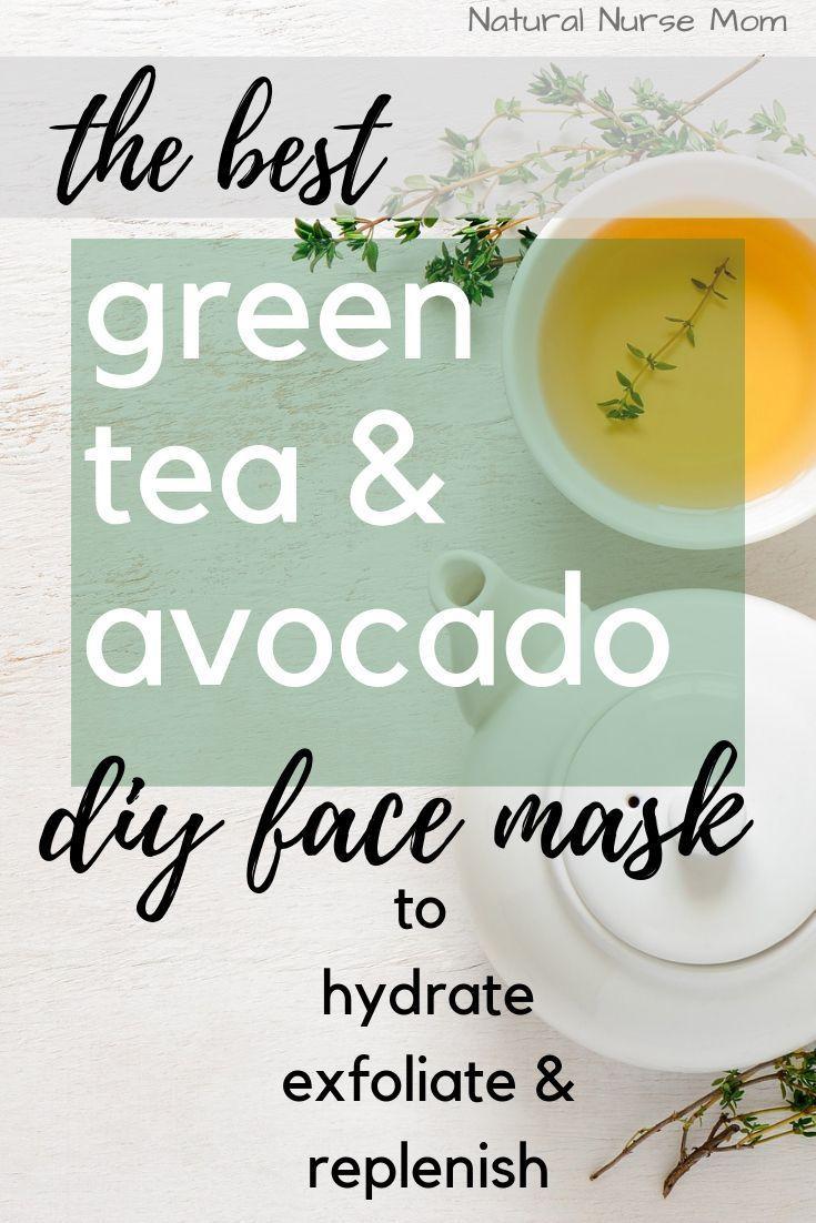 All natural skin care recipe | avocado green tea face mask – #Avocado #Care #Fac…