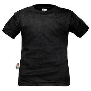 T-shirt enfant noir manches courtes