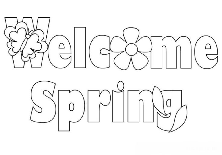 welcome spring coloring pages | Alphabet | Pinterest ...