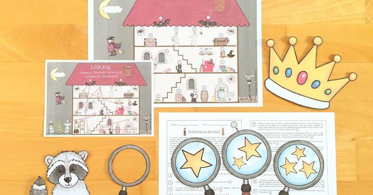 Differenzierte Lesespurgeschichte für die Grundschule: dreifach differenzierte Lesetexte, Zusatzaufgabe für schnelle Lesedetektive, anschauliches Bildmaterial, geeignet für das Smartboard