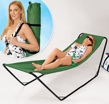 Portable Hammock. Now this is what I want instead of a chair at the beach