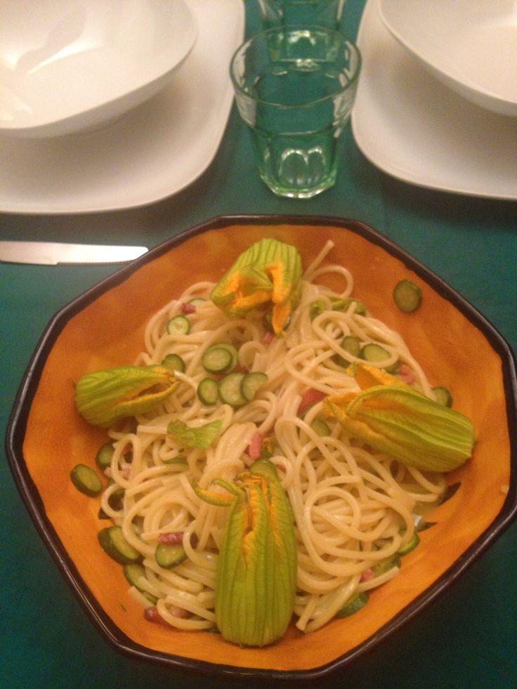 Finta carbonare con speck e baby zucchine #food