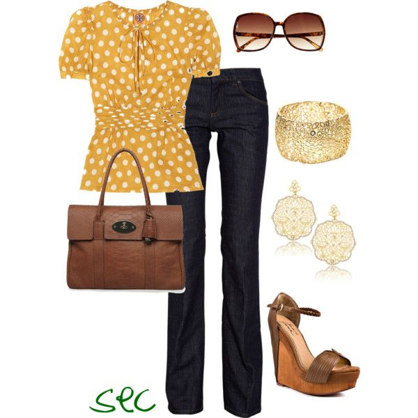 Marigold: Fashion, Polka Dots, Summer Outfit, Style, Work Outfit, Casual Fridays, Polkadots, Work Attire