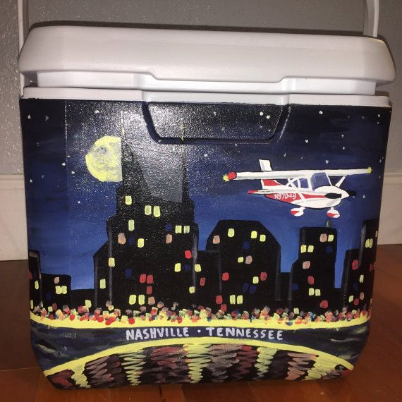 Made to order hand painted coolers! Many, many hours are spent making this cooler exactly as you picture it! This price includes the purchase of the cooler, supplies used, and hours worked.I can paint any custom design you would like! I encourage you to send pictures, logos, etc. of exactly what youd like! Great for summer, mountain weekends, sororities/fraternities, sports teams, tailgates, college, christmas/ wedding gifts, etc. Please allow 2-3 weeks for the large (48 qt), and 2...