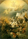 The exit of Mesolongi, Thodoros Bryzakis(1814-1878). The theme is from the battles of the Greek Revolution of 1821-1830
