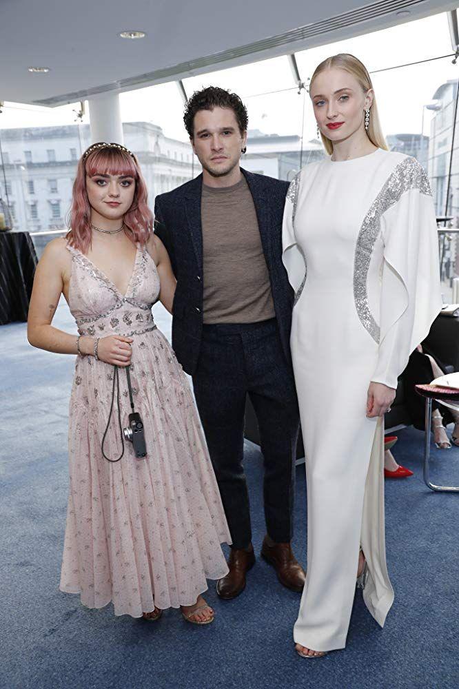Kit Harington, Maisie Williams, and Sophie Turner   Maisie ...