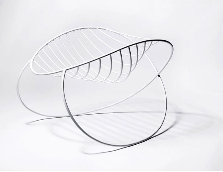molecule rocking chair by Henrik Sørig Thomsen