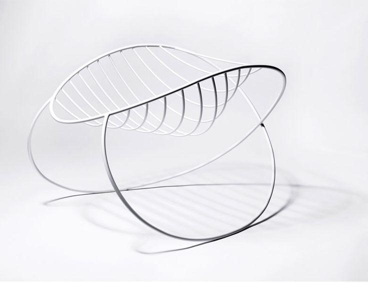 molecule rocking chair by Henrik Sørig Thomsen: Chairs Furniture, Rocks Chairs, Sørig Studios, Minimalist Molecule, Design Art, Molecule Rocks, Sørig Thomsen, Ikea Couch, Sørig Furniture