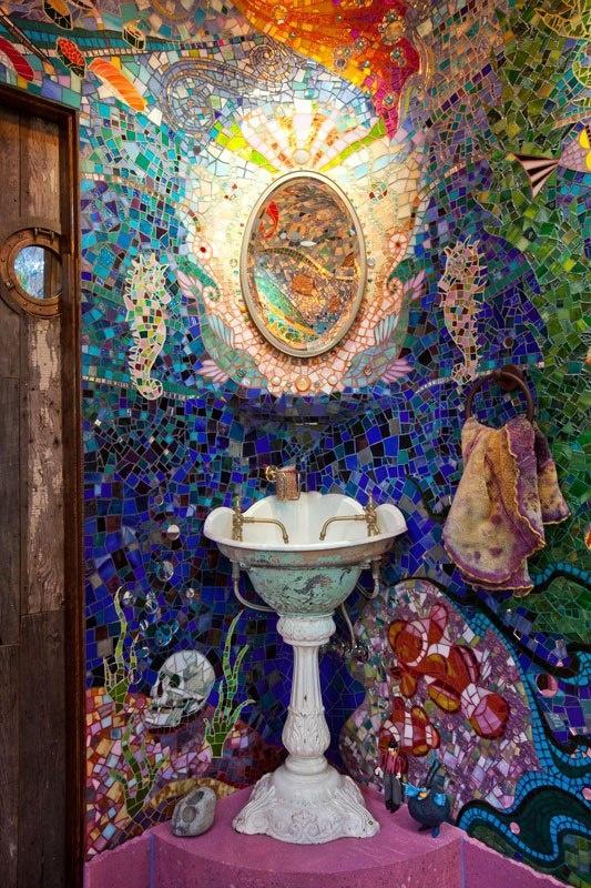This Bathroom Is Nothing Short Of Creative Genius Mosaic Art
