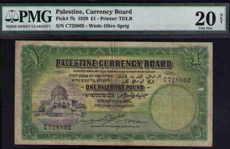 Palestine, Currency Board 1929 £1, PMG 20 VF, British Mandate Pick #7b