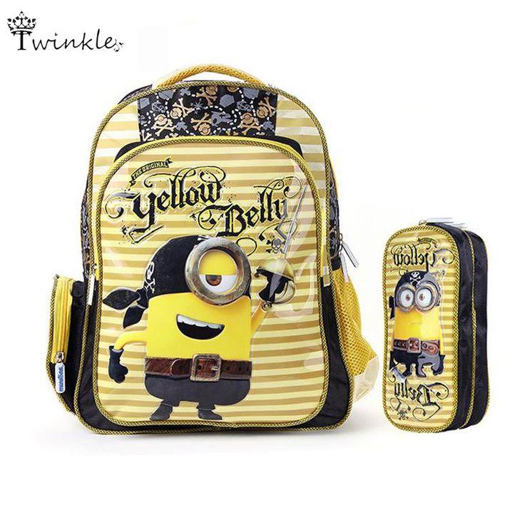 $27.21 (Buy here: https://alitems.com/g/1e8d114494ebda23ff8b16525dc3e8/?i=5&ulp=https%3A%2F%2Fwww.aliexpress.com%2Fitem%2FMinion-Backpack-2016-Kids-School-Bags-for-Boys-girls-cute-3D-cartoon-Schoolbag-Backpacks-children-school%2F32597706623.html ) Minion Backpack 2016 Kids School Bags for Boys girls cute 3D cartoon Schoolbag Backpacks children school bags mochila escolar for just $27.21