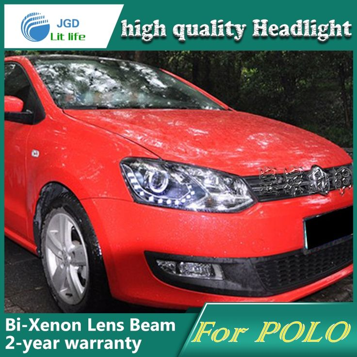 485.00$  Buy here - http://alim3v.worldwells.pw/go.php?t=32661581632 - high quality Car Styling for VW Polo 2011-2013 Headlights LED Headlight DRL Lens Double Beam HID Xenon Car Accessories 485.00$