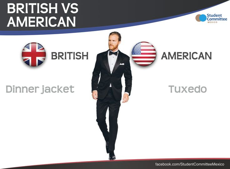 ' dinner jacket vs tuxedo ' BRITISH VS AMERICAN ENGLISH