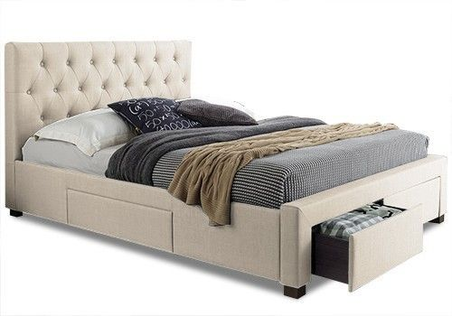 The Studio 4 Drawers Fabric Bed Frame is an extremely stylish bed frame that delivers an elegant, sophisticated and sleek look and feel to your bedroom