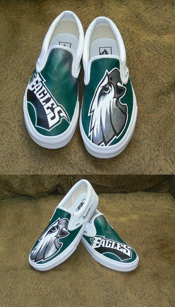 a1d6d43c19a94 Philadelphia Eagles Custom Vans | Custom Handmade Sneakers and for ...