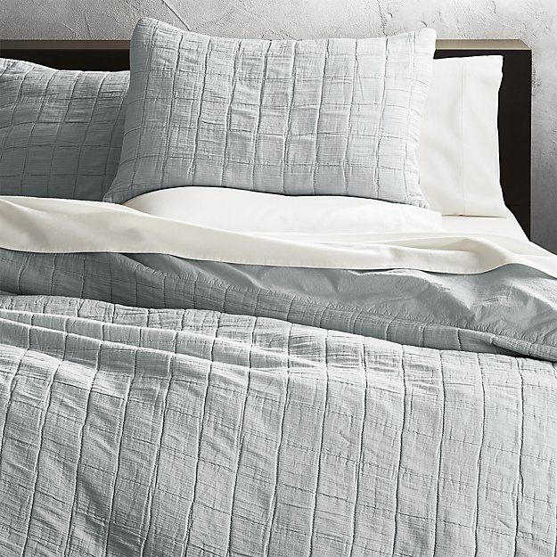 Wendell Silver Quilted Duvet Cover Cb2 Quilted Duvet Cover